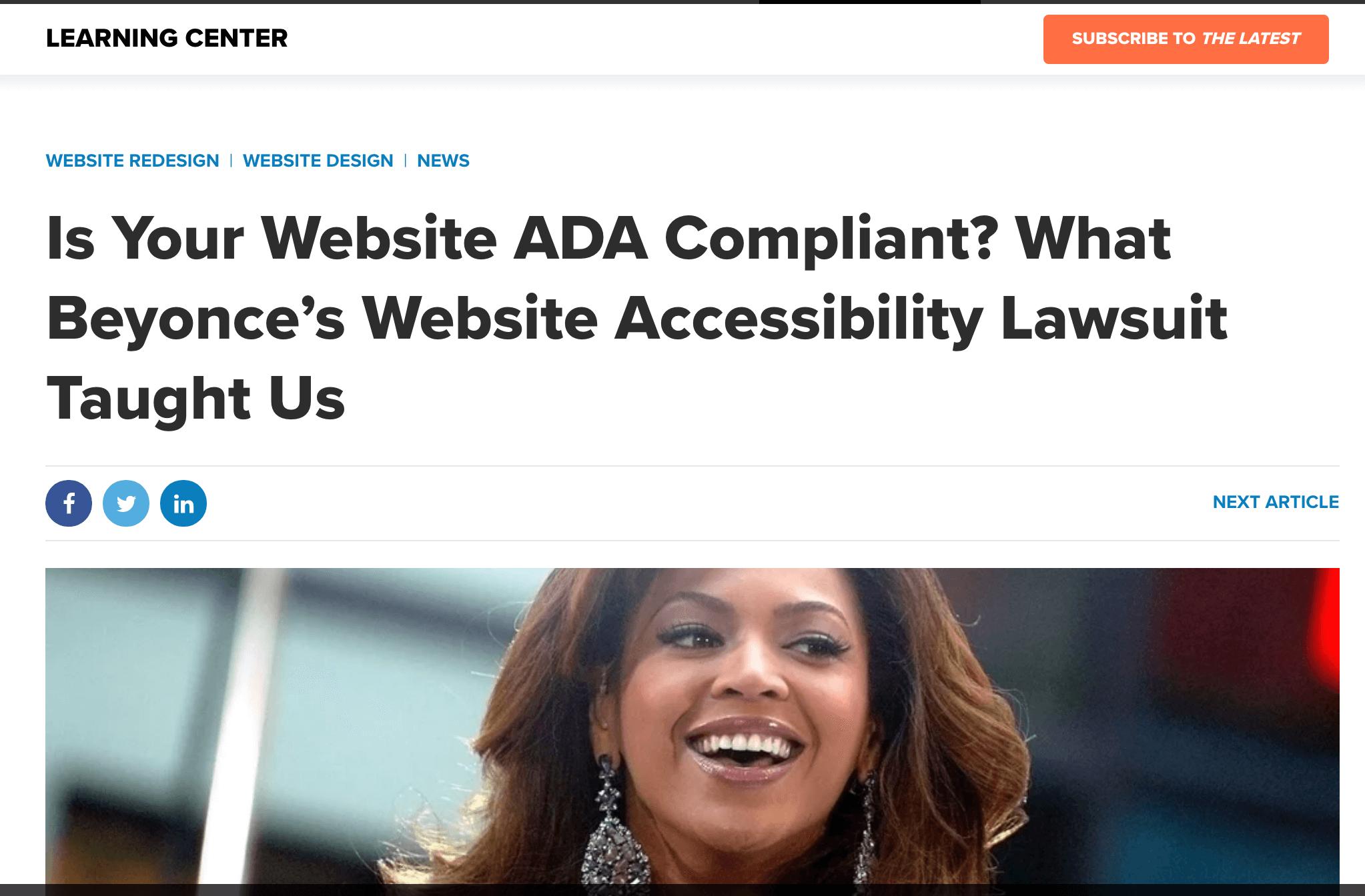 ADA Compliance Widget
